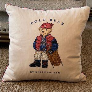 """Polo Ralph Lauren 17"""" x 17"""" Winter Bear Pillow"""